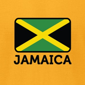 Flag Jamaica 2 (dd)++ T-Shirts - Men's T-Shirt by American Apparel