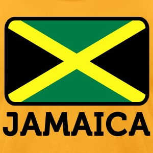 Flag Jamaica 2 (3c)++ T-Shirts - Men's T-Shirt by American Apparel
