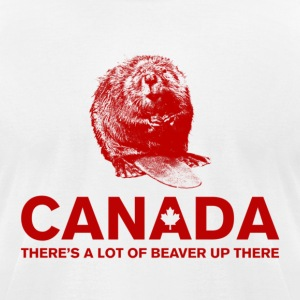 Canadian Beaver T-Shirts - Men's T-Shirt by American Apparel