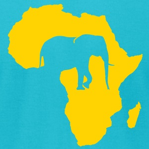 africa_elefant T-Shirts - Men's T-Shirt by American Apparel