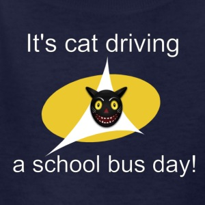 its cat driving a school bus day! t shirt - Kids' T-Shirt