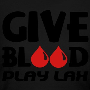 Give Blood Play Lacrosse Long Sleeve Shirts - Women's Long Sleeve Jersey T-Shirt