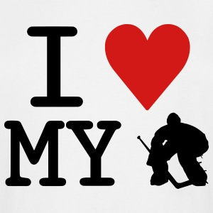 I Love My Goalie (hockey) T-Shirts - Men's Tall T-Shirt