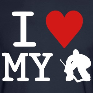 I Love My Goalie (hockey) Long Sleeve Shirts - Men's Long Sleeve T-Shirt