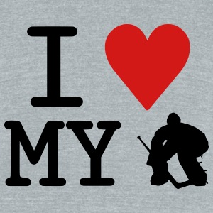 I Love My Goalie (hockey) T-Shirts - Unisex Tri-Blend T-Shirt by American Apparel