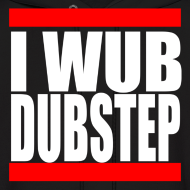 Design ~ I Wub Dubstep Men's Hooded Sweatshirt