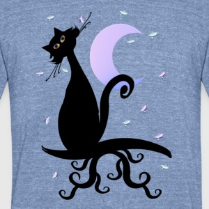 Midnight Kitty - Unisex Tri-Blend T-Shirt by American Apparel