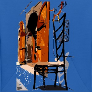 A Chair street view of Europe graphic art Kid's Hooded Sweatshirt - Kids' Hoodie