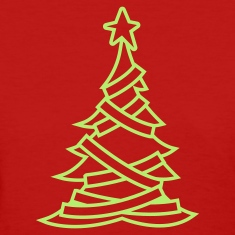 SIMPLE adorned CHRISTMAS tree with a north star Women's T-Shirts