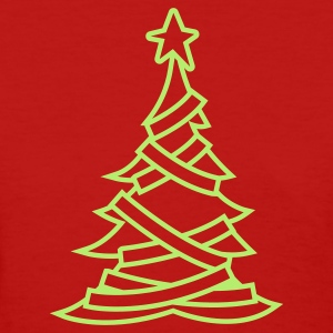SIMPLE adorned CHRISTMAS tree with a north star Women's T-Shirts - Women's T-Shirt