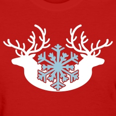 winter stags and a snowflake Women's T-Shirts
