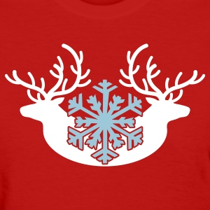 winter stags and a snowflake Women's T-Shirts - Women's T-Shirt