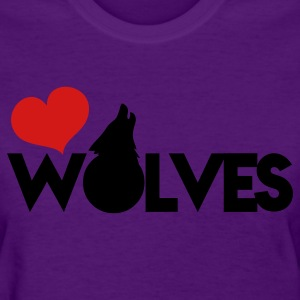 love wolves with type howling wolf Women's T-Shirts - Women's T-Shirt