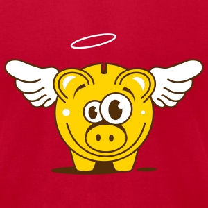 A funny piggy bank with wings  T-Shirts - Men's T-Shirt by American Apparel