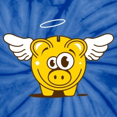A funny piggy bank with wings  T-Shirts