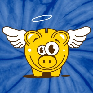 A funny piggy bank with wings  T-Shirts - Unisex Tie Dye T-Shirt