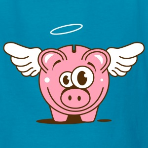 A funny piggy bank with wings  Kids' Shirts - Kids' T-Shirt