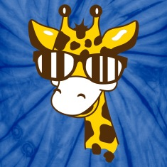A giraffe with cool sunglasses T-Shirts