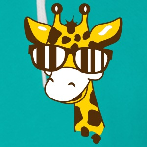 A giraffe with cool sunglasses Zip Hoodies/Jackets - Unisex Fleece Zip Hoodie by American Apparel