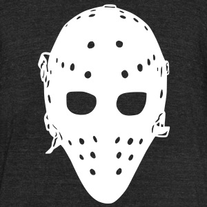 Vintage Hockey Goalie Mask T-Shirts - Unisex Tri-Blend T-Shirt by American Apparel