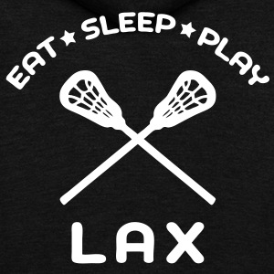 Eat, Sleep, Play Lacrosse Zip Hoodies/Jackets - Unisex Fleece Zip Hoodie by American Apparel