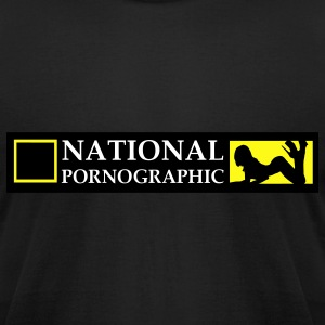 National Pornographic T-Shirts - Men's T-Shirt by American Apparel