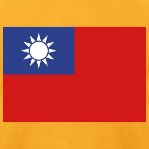 Flag Taiwan (3c)++ T-Shirts - Men's T-Shirt by American Apparel