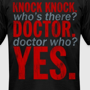 Doctor Who Knock Knock Joke T-Shirts - Men's T-Shirt by American Apparel
