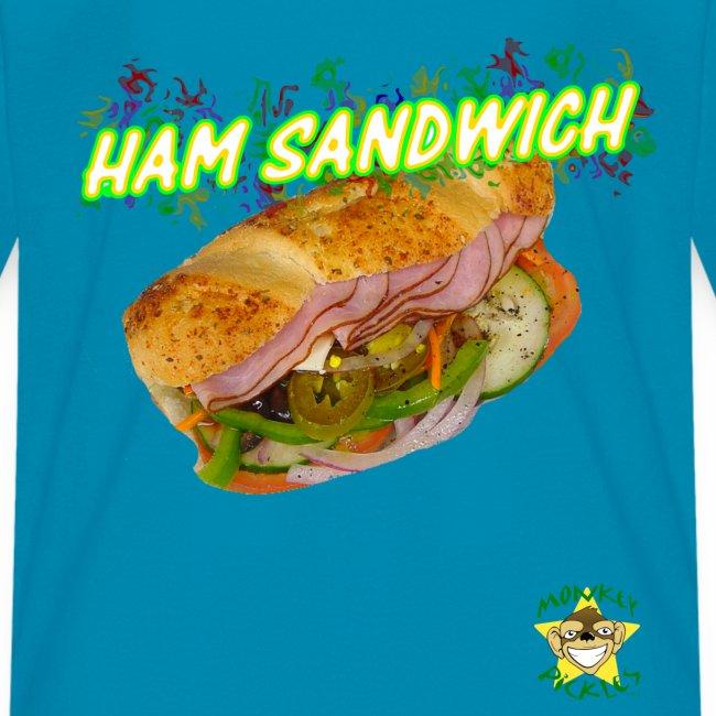 Monkey Pickles Ham Sandwich
