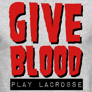 Give Blood Play Lacrosse Long Sleeve Shirts - Men's Long Sleeve T-Shirt by Next Level
