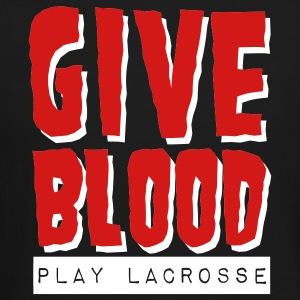 Give Blood Play Lacrosse Long Sleeve Shirts - Crewneck Sweatshirt