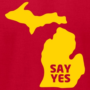 Say yes to Michigan - Men's T-Shirt by American Apparel