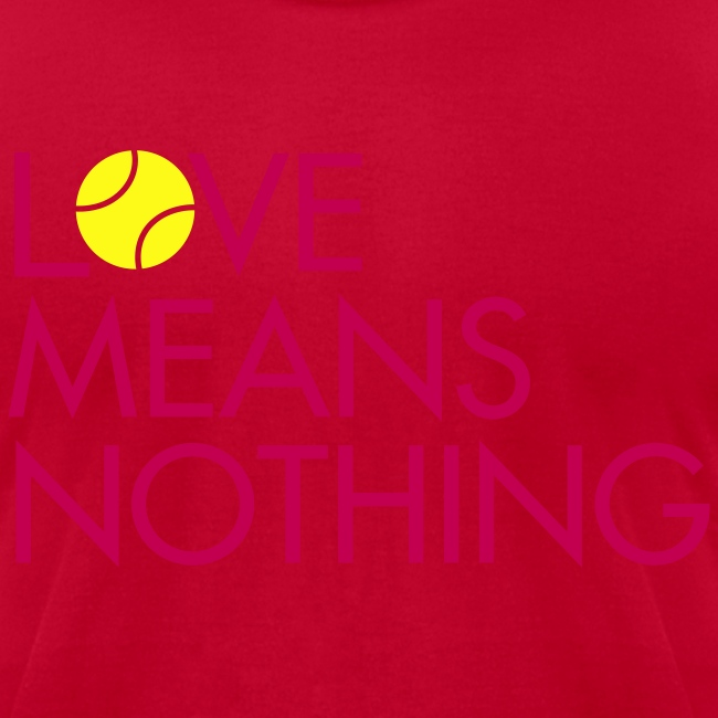 Love Means Nothing. Pink Tennis Tee