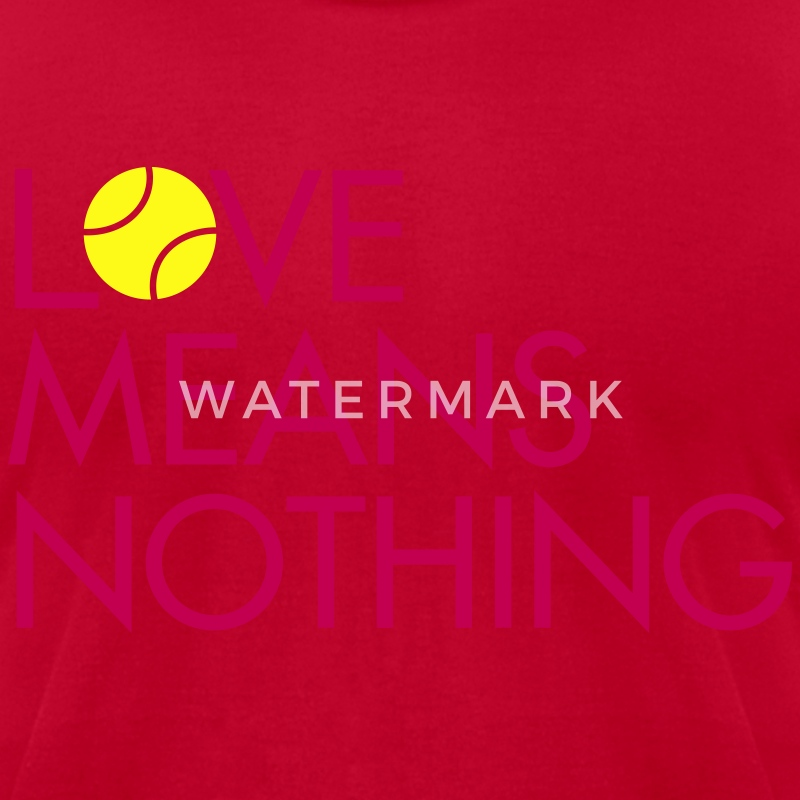 Love Means Nothing. Pink Tennis Tee - Men's T-Shirt by American Apparel