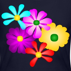 Gorgeous Tropical Flowers, Multi-Color--DIGITAL DIRECT PRINT Long Sleeve Shirts