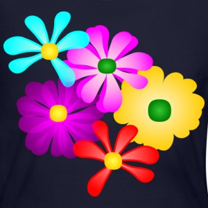 Gorgeous Tropical Flowers, Multi-Color--DIGITAL DIRECT PRINT Long Sleeve Shirts - Women's Long Sleeve Jersey T-Shirt