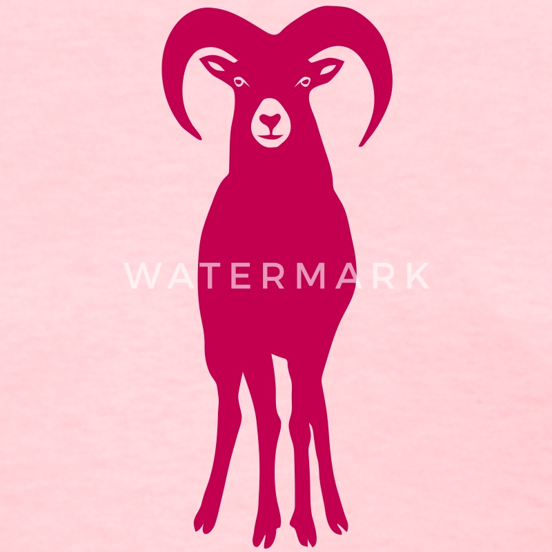 sheep goat mountain ram horn horns aries jumbock bighorn buck billy goat animal Women's T-Shirts - Women's T-Shirt