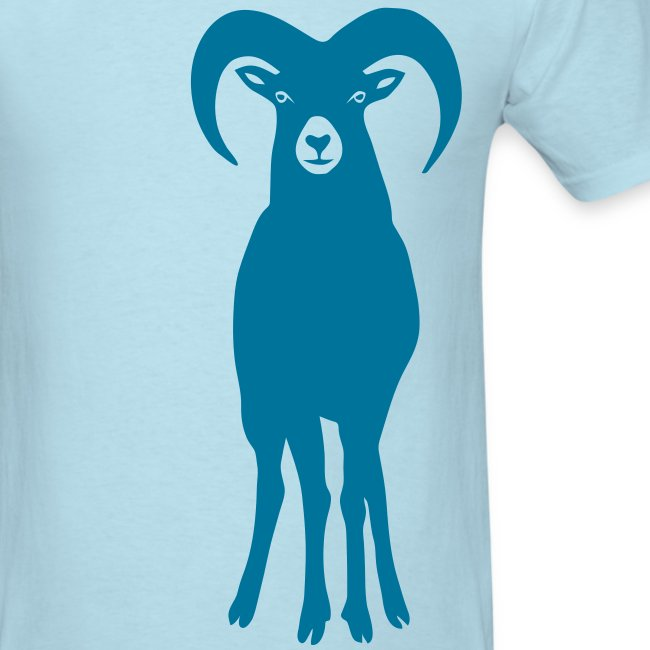 t-shirt sheep goat mountain ram horn horns aries jumbock bighorn buck billy goat animal
