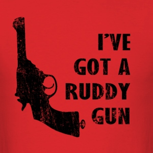 I've Got A Ruddy Gun - The IT Crowd | Robot Plunge - Men's T-Shirt