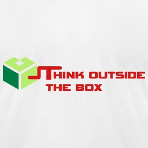 Think Outside The Box T-Shirts - Men's T-Shirt by American Apparel