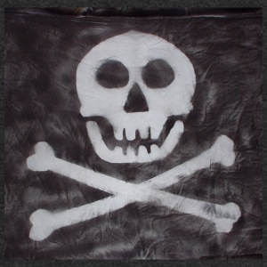 Spraypainted Jolly Roger. - Unisex Tri-Blend T-Shirt by American Apparel
