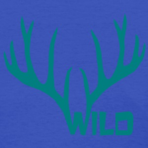 wild stag deer moose elk antler antlers horn horns cervine hart bachelor party night hunter hunting Women's T-Shirts - Women's T-Shirt