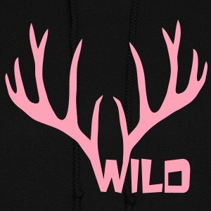 wild stag deer moose elk antler antlers horn horns cervine hart bachelor party night hunter hunting Hoodies - Women's Hoodie