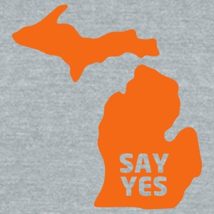 Yes, Michigan (Tigers Edition) - Unisex Tri-Blend T-Shirt by American Apparel