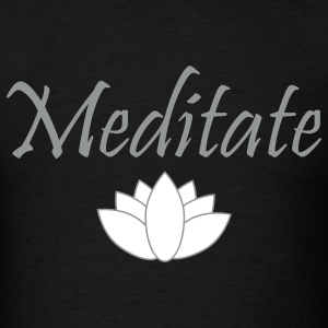 meditate lotus T-Shirts - Men's T-Shirt
