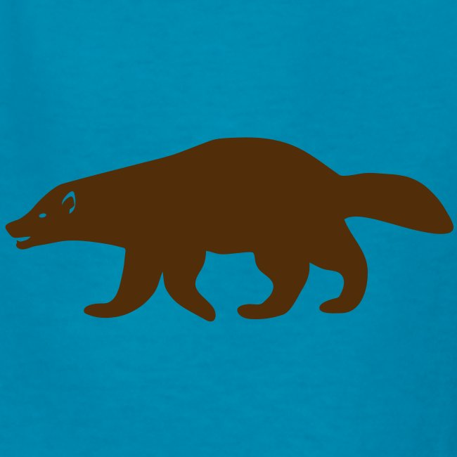 t-shirt wolverine glutton hog cormorant gannet eat greedy animal