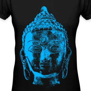 Buddha - Blue - Women's V-Neck T-Shirt