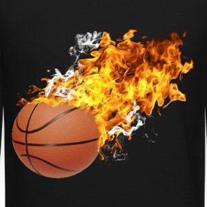 Flaming Basketball Long Sleeve Shirts - Crewneck Sweatshirt