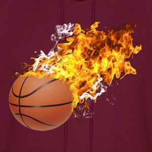 Flaming Basketball Hoodies - Men's Hoodie