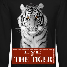 Eye of the Tiger White Long Sleeve Shirts